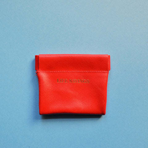 'Life Savings' snap coin purse in Red