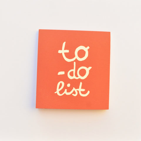 To-do list jotter pad in red