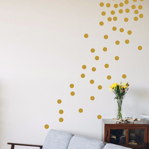 Golden Dots Set - Wall Decal