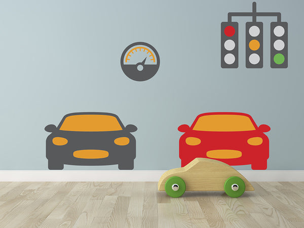 Race Car Set - Wall Decal