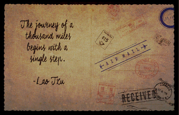 Lao Tzu Quote (Poster) - Wall Decal