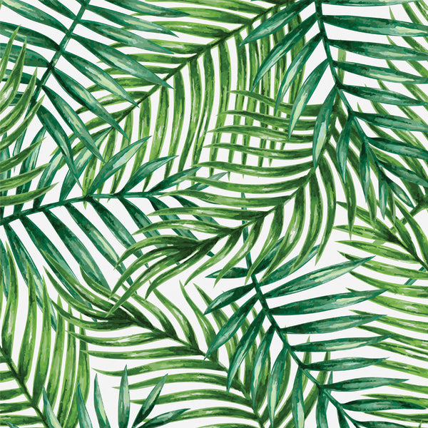 Tropical Palm Leaves - Removable Wallpaper