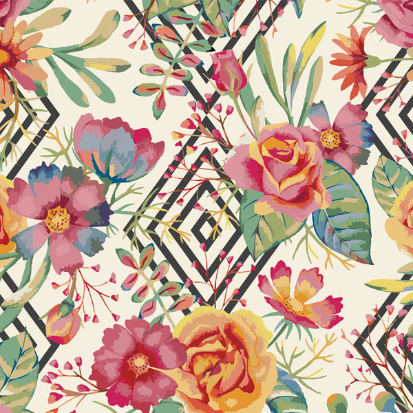 Floral Recycled Stationery - Wall Mural - Wallpaper