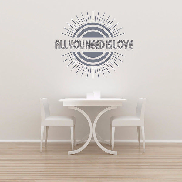 All You Need Is Love - Wall Words Decal