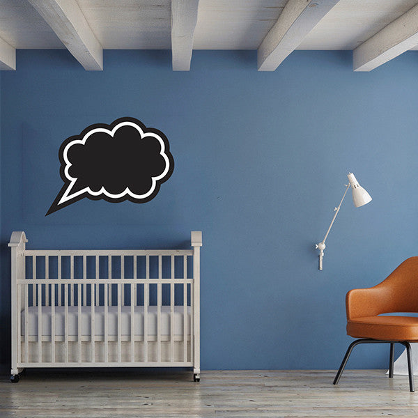 Speech Bubble Chalkboard - Wall Decal