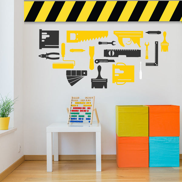 Kid's Construction Set - Wall Decal