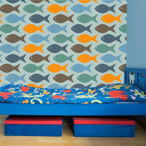 Fishy Fish - Removable Wallpaper