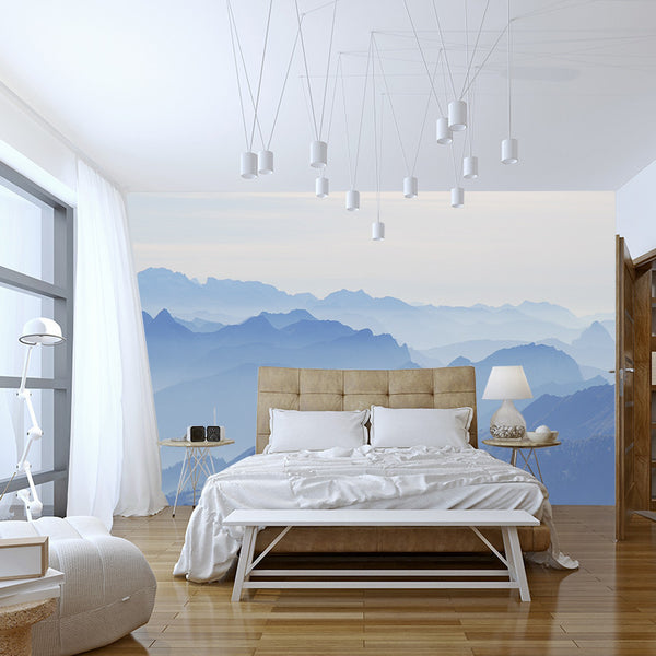 Foggy Alps - Wall Mural - Wallpaper