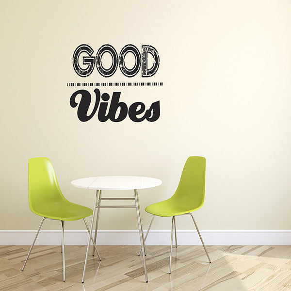 Good Vibes - Wall Words Decal