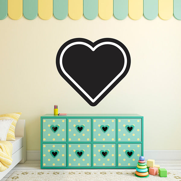 Heart Chalkboard - Wall Decal