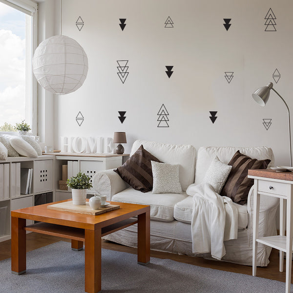 Triangle Mix Set - Wall Decal