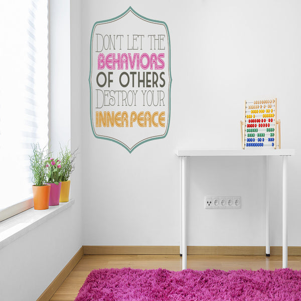 Inner Peace - Wall Words Decal