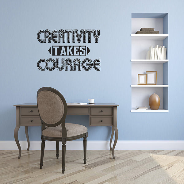 Creativity Takes Courage - Wall Words Decal
