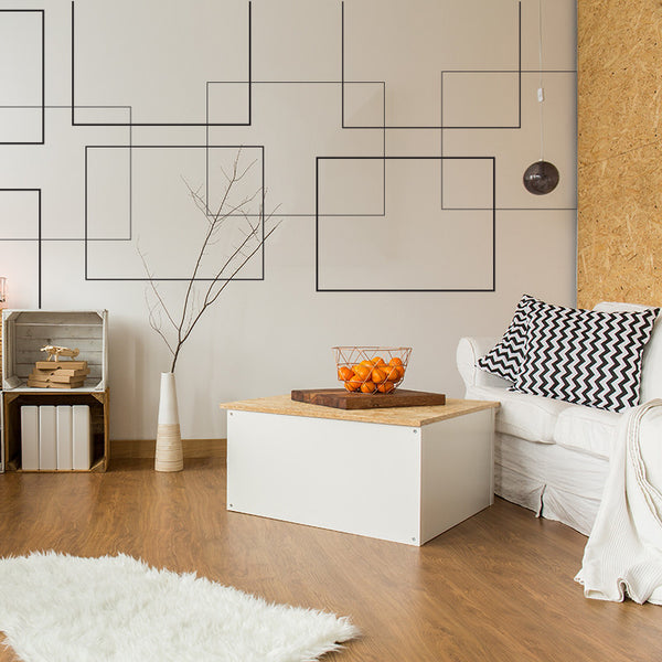 Retro Rectangles - Wall Decal