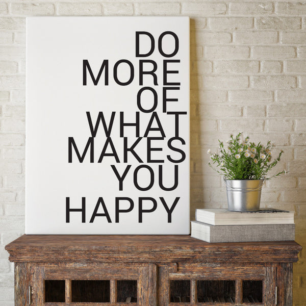More Happy - Canvas Print