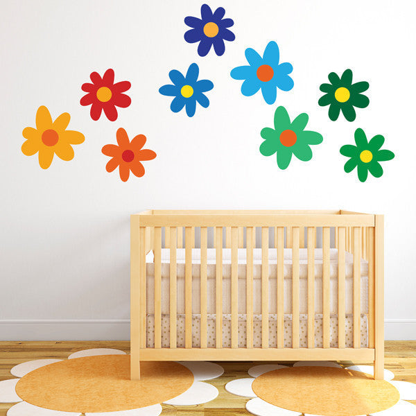 Daisy Flower Set - Wall Decal