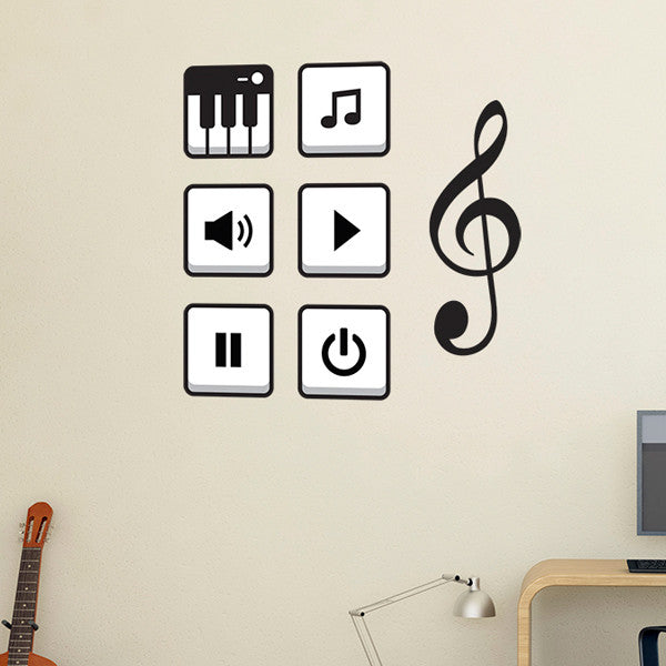Music A3 - Wall Decal