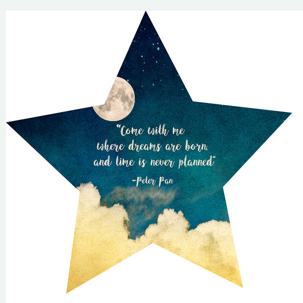 Peter Pan Quote (Poster) - Wall Words Decal