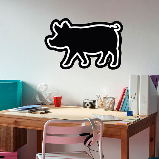 Pig Chalkboard - Wall Decal