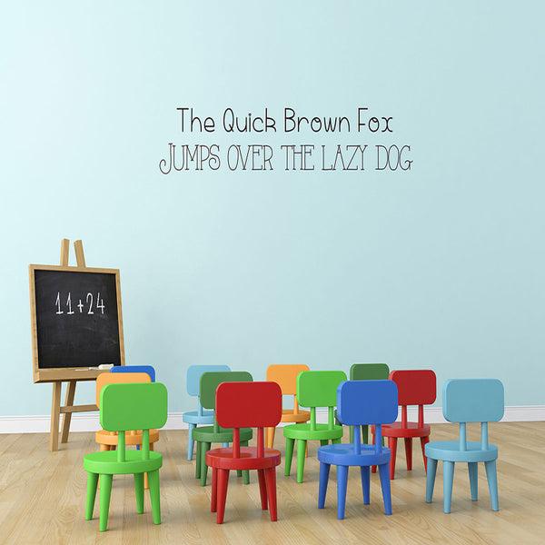 Quick Brown Fox - Wall Words Decal