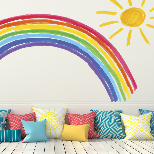 Rainbow and Sunshine - Wall Decal