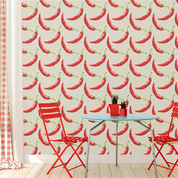 Red Hot Chili Pepper - Removable Wallpaper