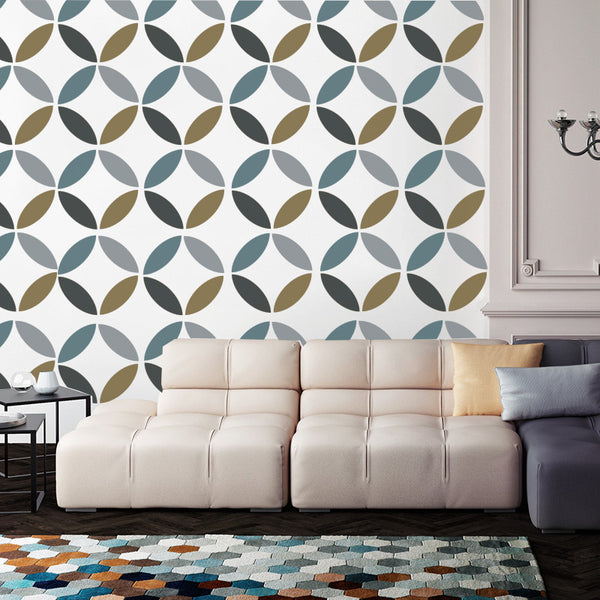 Retro Hypocycloid - Removable Wallpaper