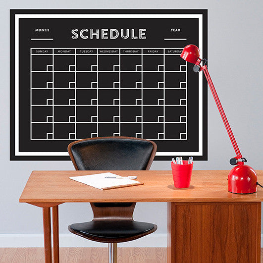 Calendar Chalkboard - Wall Decal