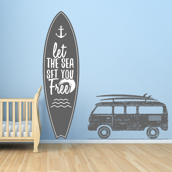 Surfs Up Set - Wall Decal