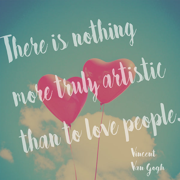 Vincent Van Gogh Quote (Poster) - Wall Words Decal