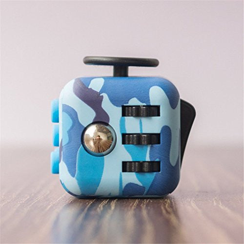 Blue Camouflage Fidget Cube; Buy the best quality fidget cubes available in India; Best price guaranteed