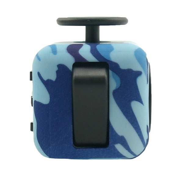 Blue Camouflage Fidget Cube Flip Button; Buy the best quality fidget cubes available in India; Best price guaranteed