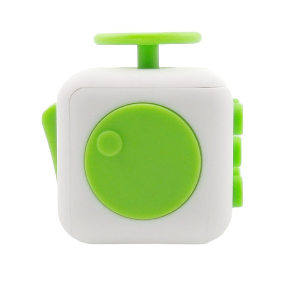 White and Green Fidget Cube Spin; Buy the best quality fidget cubes available in India; Best price guaranteed