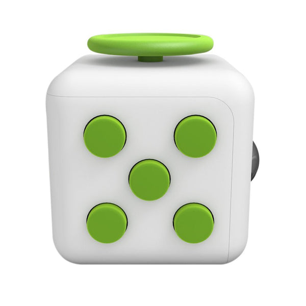 White and Green Fidget Cube Tap Buttons; Buy the best quality fidget cubes available in India; Best price guaranteed