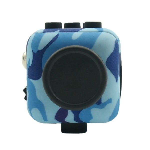 Blue Camouflage Fidget Cube Glide Joystick; Buy the best quality fidget cubes available in India; Best price guaranteed