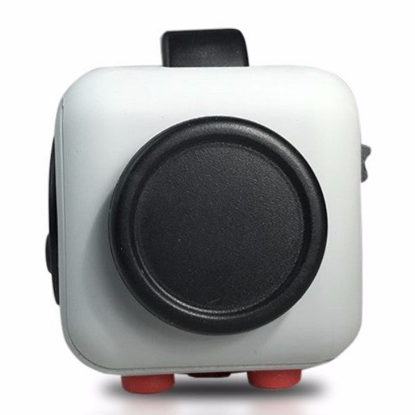 Grey and Red Fidget Cube Glide Joystick; Buy the best quality fidget cubes available in India; Best price guaranteed