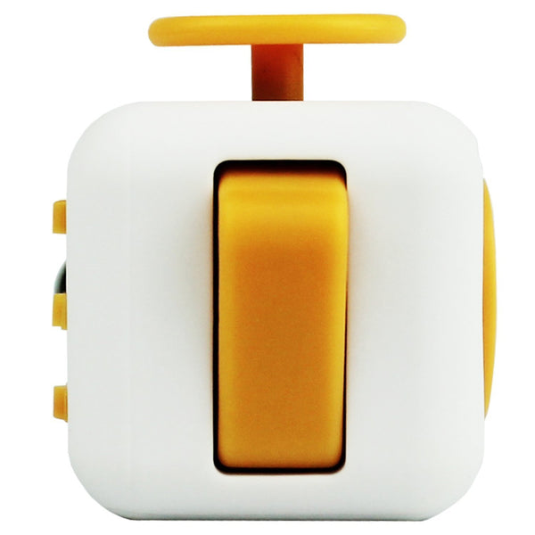 White and Yellow Fidget Cube Flip Button; Buy the best quality fidget cubes available in India; Best price guaranteed