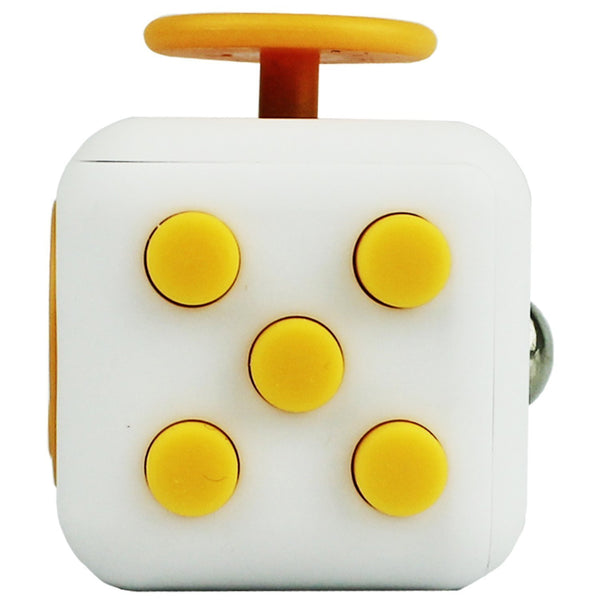 White and Yellow Fidget Cube Tap Buttons; Buy the best quality fidget cubes available in India; Best price guaranteed