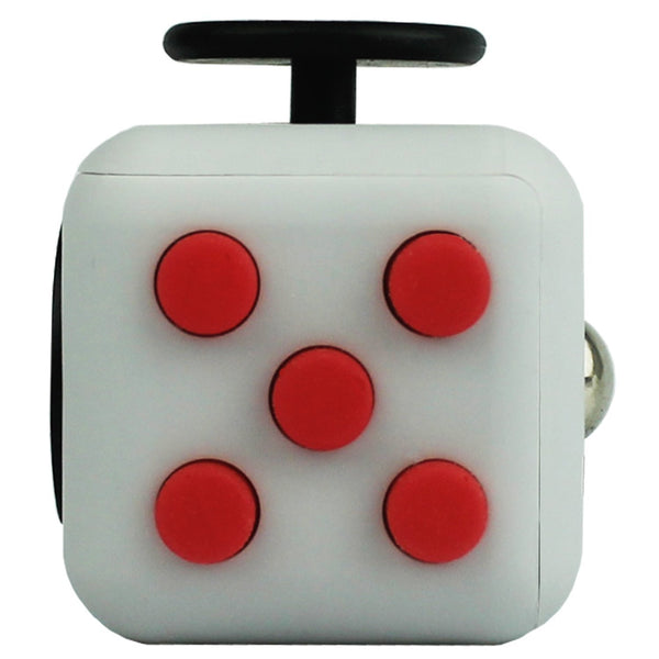 Grey and Red Fidget Cube Tap Buttons; Buy the best quality fidget cubes available in India; Best price guaranteed