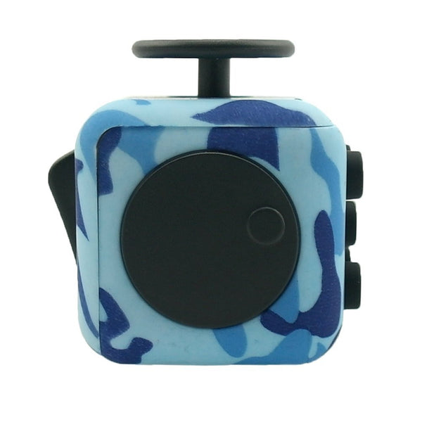 Blue Camouflage Fidget Cube Spin; Buy the best quality fidget cubes available in India; Best price guaranteed