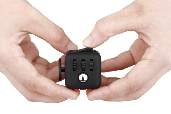 Black and Red Fidget Cube in action; Buy the best quality fidget cubes available in India; Best price guaranteed