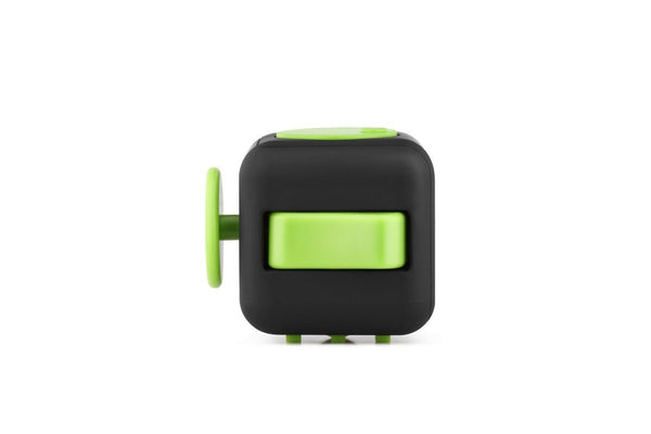 Black and Green Fidget Cube Flip Button; Buy the best quality fidget cubes available in India; Best price guaranteed