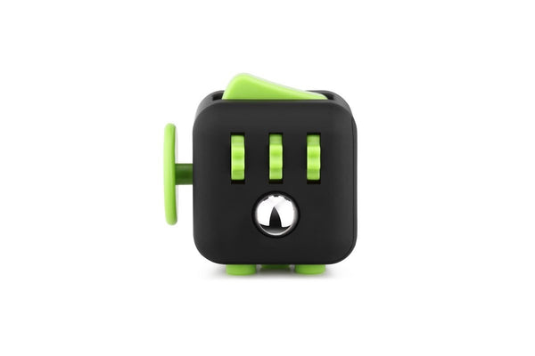 Black and Green Fidget Cube Gears and Ball Buttons; Buy the best quality fidget cubes available in India; Best price guaranteed