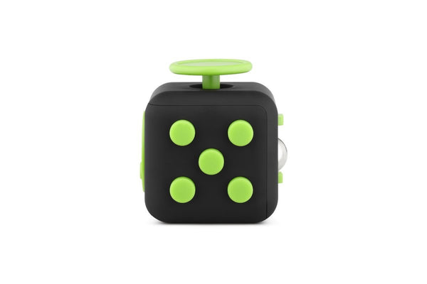 Black and Green Fidget Cube Tap Buttons; Buy the best quality fidget cubes available in India; Best price guaranteed
