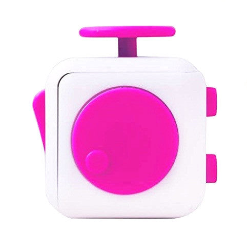 White and Pink Fidget Cube Spin; Buy the best quality fidget cubes available in India; Best price guaranteed