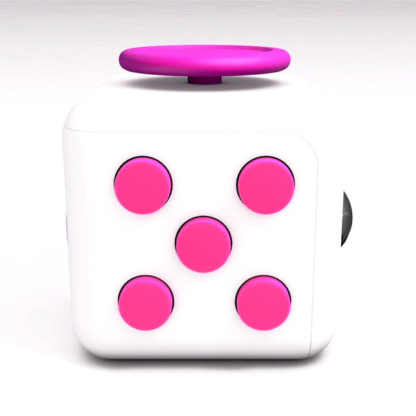 White and Pink Fidget Cube Tap Buttons; Buy the best quality fidget cubes available in India; Best price guaranteed