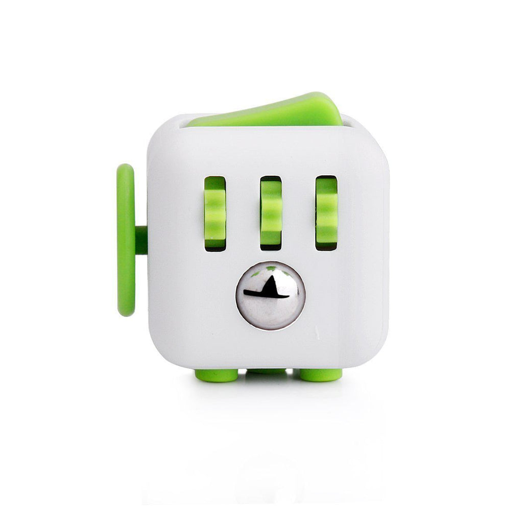 White and Green Fidget Cube; Buy the best quality fidget cubes available in India; Best price guaranteed