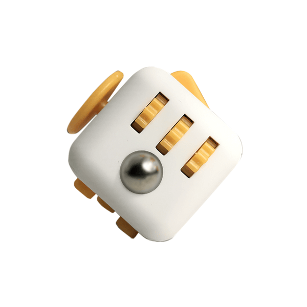 White and Yellow Fidget Cube in action; Buy the best quality fidget cubes available in India; Best price guaranteed