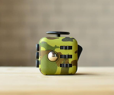 Green Camouflage Fidget Cube; Buy the best quality fidget cubes available in India; Best price guaranteed