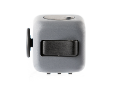 Grey and Black Fidget Cube Flip Button; Buy the best quality fidget cubes available in India; Best price guaranteed